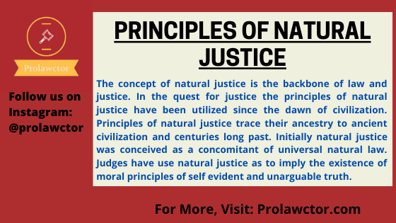 Principles of Natural Justice: Administrative Law Notes- Prolawctor