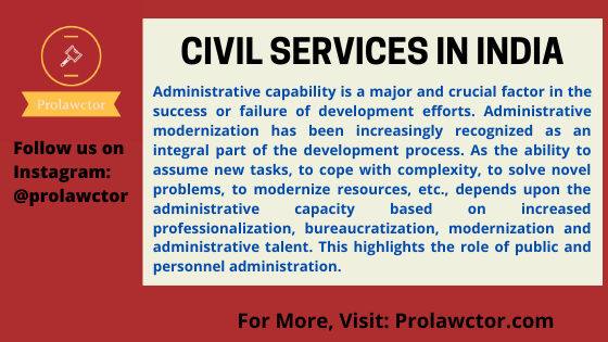 Civil Services in India: Administrative Law Notes- Prolawctor
