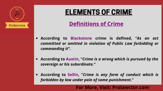 Elements Of Crime And Theories Of Punishment: IPC Notes- Prolawctor
