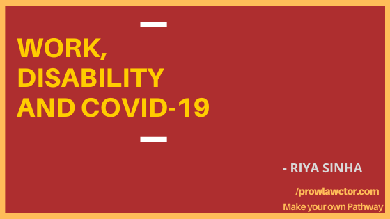 WORK, DISABILITY AND COVID-19 - PROLAWCTOR