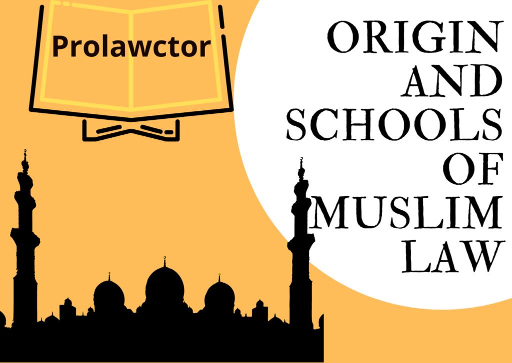 ORIGIN AND SCHOOLS OF MUSLIM LAW- Prolawctor