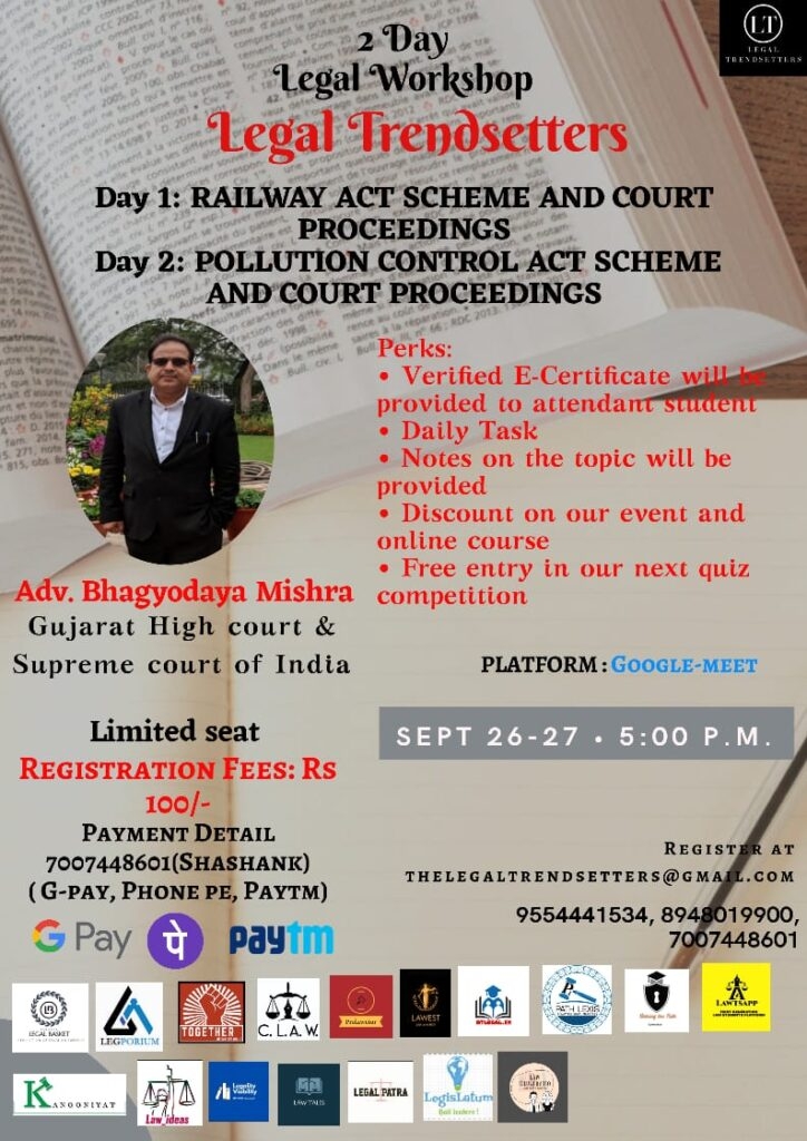 2 Day Workshop by Legal Trendsetters on 26th and 27th September 2020