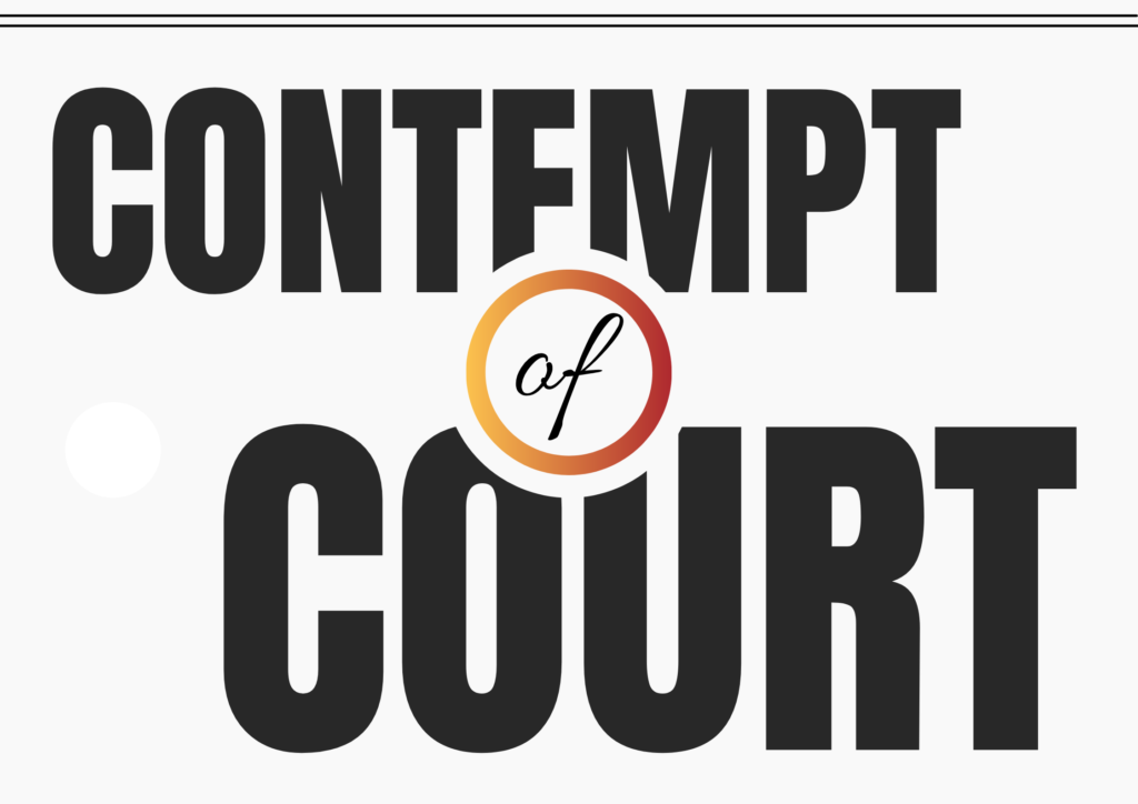 """Contempt of court, often referred to simply as """"contempt"""", is the offense of being disobedient to or disrespectful toward a court of law and its officers in the form of behavior that opposes or defies the authority, justice and dignity of the court. A similar attitude towards a legislative body is termed contempt of Parliament or contempt of Congress."""